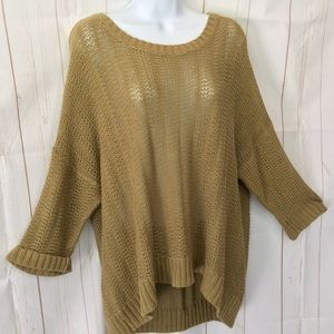 OLD NAVY Open Knit 3/4 Sleeve Sweater